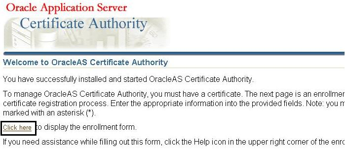 Dealing with Oracle Certificate Authority – Oracle Application ...